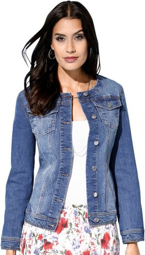 Creation L Jeans-Blazer in effektvoller Hell-Dunkel-Waschung