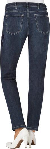 Creation L Jeans mit Glitzersteinchen-Verzierung