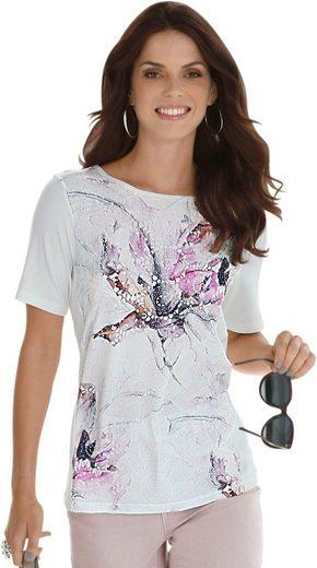 Fair Lady Blusenshirt mit bedruckter Vorderansicht