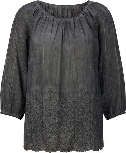 Fair Lady Bluse im oil dyed-Verfahren gefärbt
