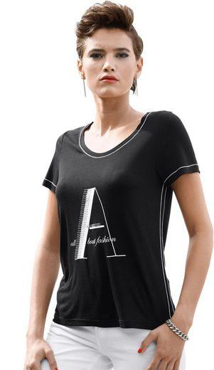 Creation L Shirt mit Strass-Steinchen