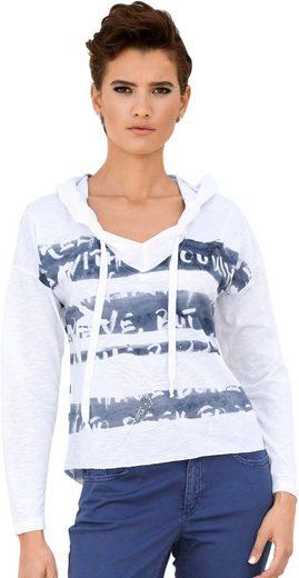 Creation L Shirt mit unterschiedlichen Streifen-Variationen vorne und hinten