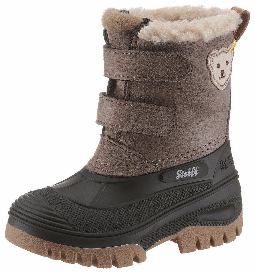 Steiff »Pauli« Winterstiefel mit praktischem Klettverschluss | Schuhe > Boots > Winterstiefel | Braun | Steiff