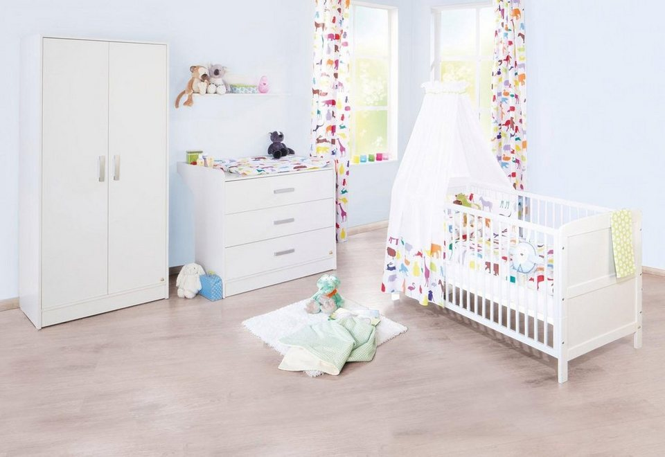 pinolino babyzimmer set 3 tlg kinderzimmer viktoria breit online kaufen otto. Black Bedroom Furniture Sets. Home Design Ideas