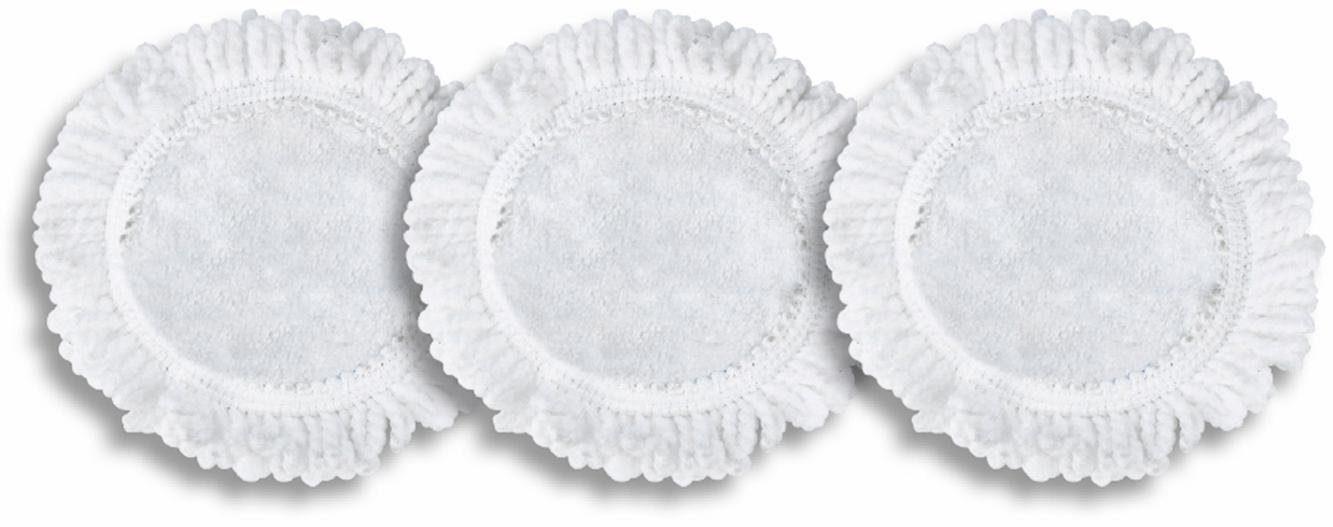 cleanmaxx Ersatz-Moppaufsatz 3er-Set weiß
