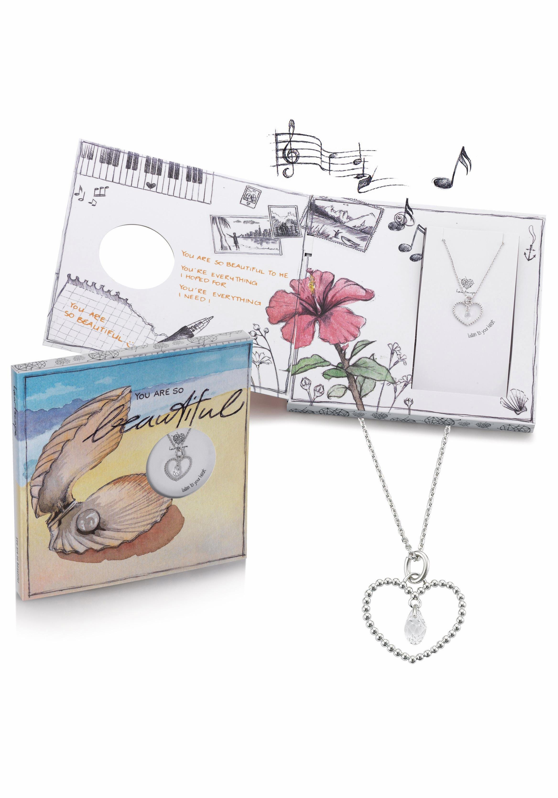 heartscape Kette mit Anhänger »Herz, YOU ARE SO beautiful« mit Swarovski® Kristallen und Musik-Geschenkbox | Schmuck > Halsketten > Herzketten | heartscape