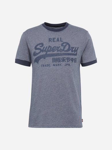 Superdry Rundhalsshirt VINTAGE LOGO RINGER TEE