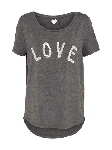 Catwalk Junkie Rundhalsshirt LOVE, Stickerei