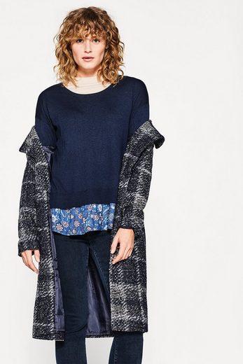 ESPRIT Femininer 2-in-1-Pullover aus Material-Mix