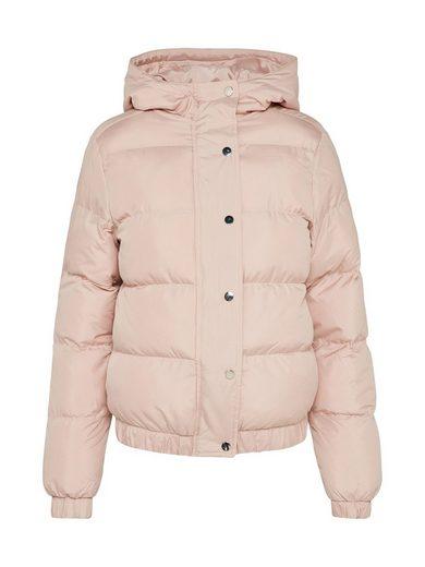 URBAN CLASSICS Steppjacke Hooded Puffer Jacket, Druckknopfleiste