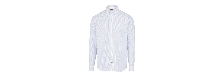 Tommy Hilfiger Streifenhemd CORE STRETCH SLIM STRIPE, Knopfleiste