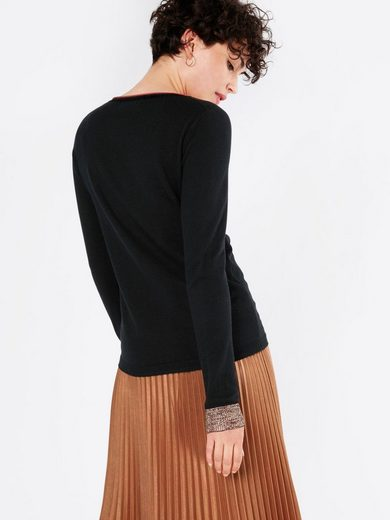 Scotch & Soda Rundhalspullover Basic crew neck knit with special ribs