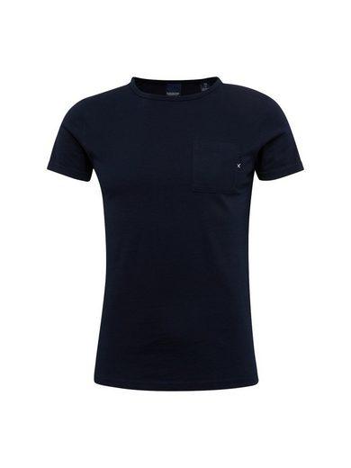 Scotch & Soda Rundhalsshirt Ams Blauw 1 pocket tee in seasonal colours