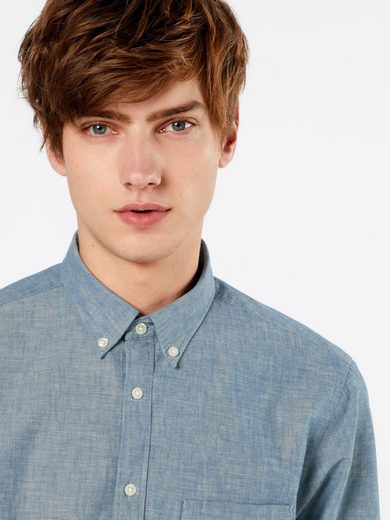 Tommy Hilfiger Langarmhemd CHAMBRAY, Knopfleiste