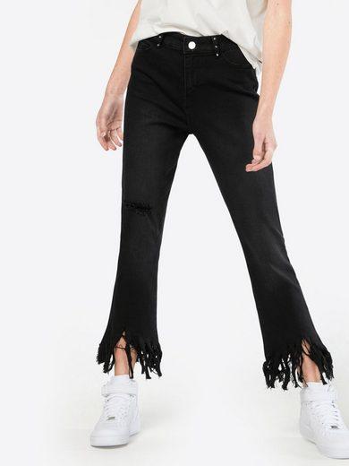 Noisy may 7/8-Jeans NMKIM, Fransensaum