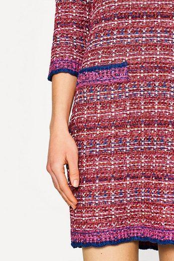 ESPRIT Strickkleid in Tweed-Optik, Baumwoll-Mix