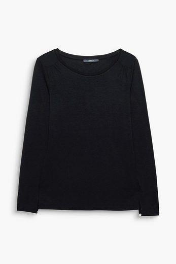 ESPRIT COLLECTION Fließendes Shirt mit Chiffon-Details