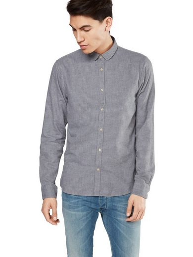 Scotch & Soda Langarmhemd Longsleeve shirt in dobby patterns, Knopfleiste