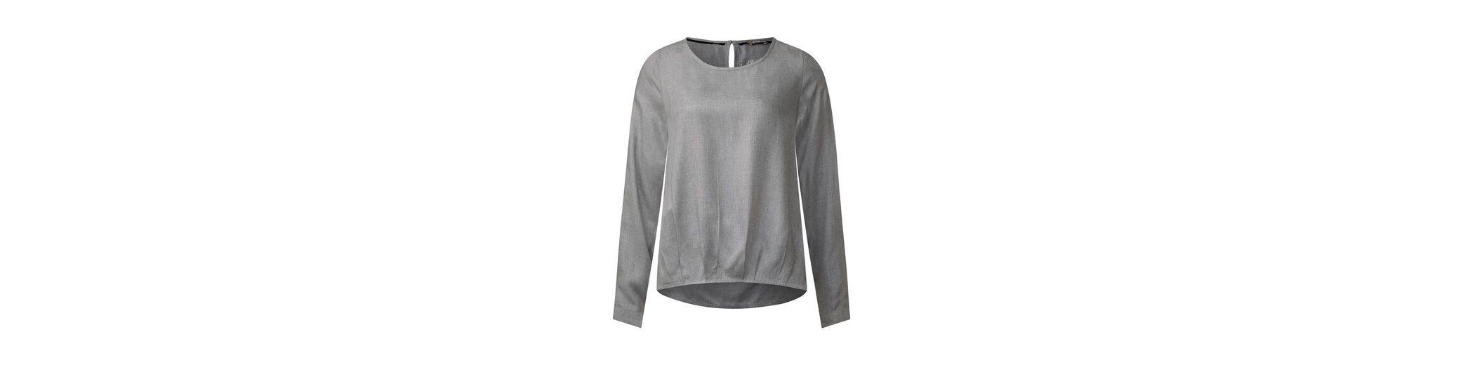 Street One Melange Bluse mit Faltensaum Für Freies Verschiffen Verkauf Spielraum Bester Ort Beste Angebote HCgmqD8