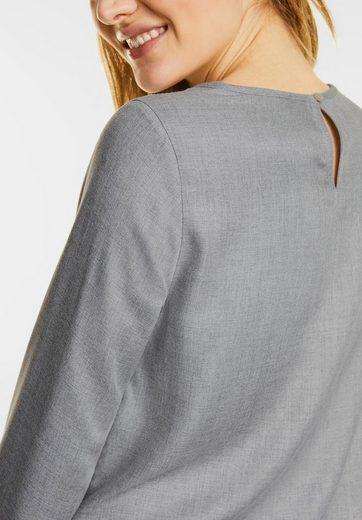Street One Melange Bluse mit Faltensaum