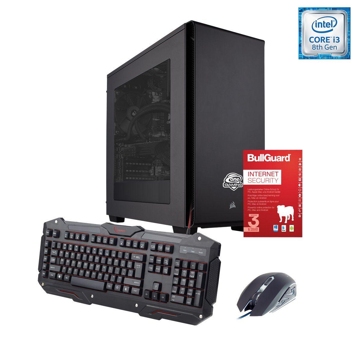 ONE GAMING PC, Core i3-8350K, GeForce GT 1030, 8GB DDR4 SDRAM »PC 44569«