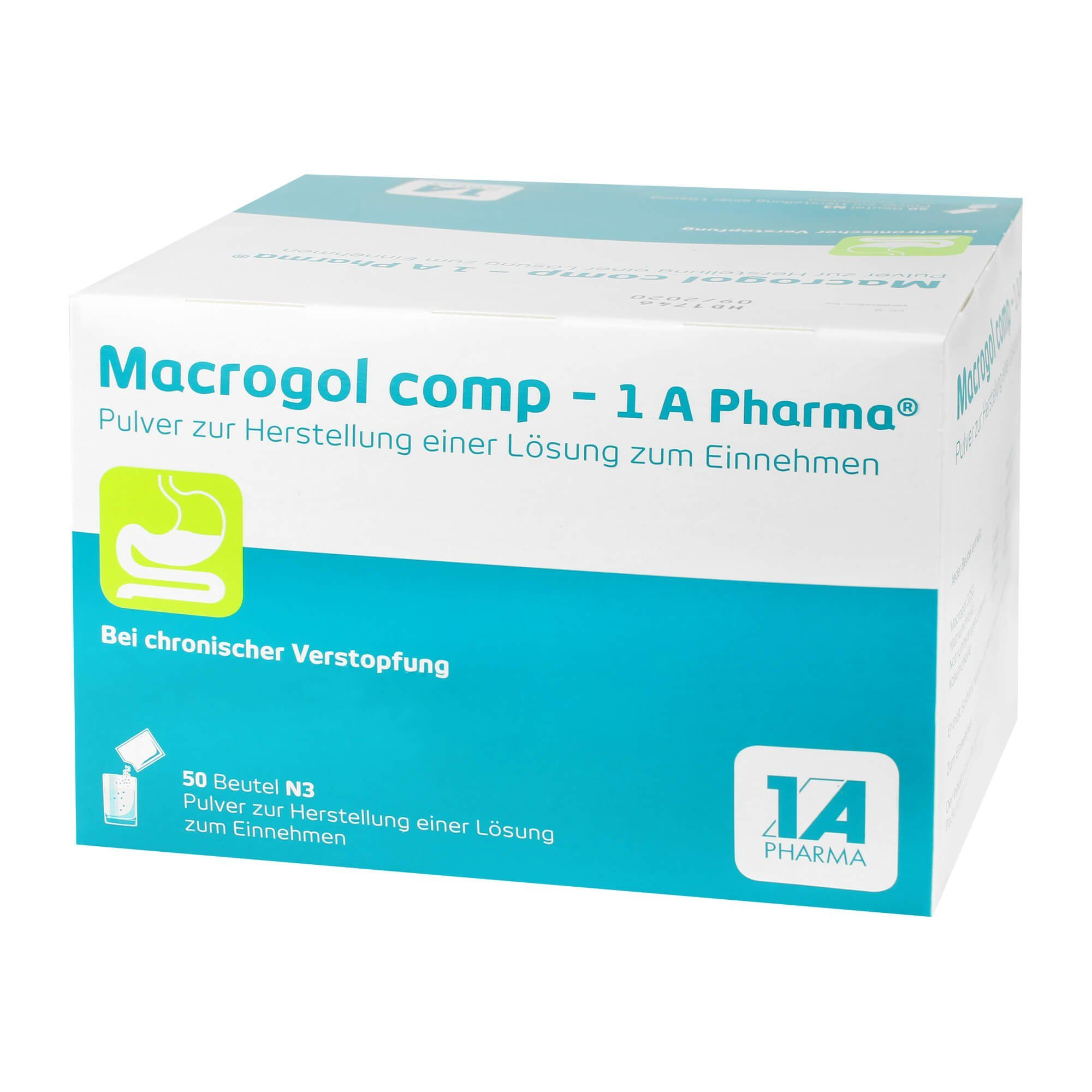 Macrogol Comp 1A Pharma Pulver, 50 St