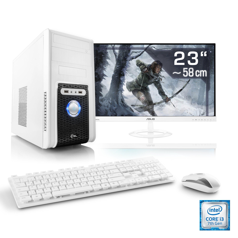 "CSL Gaming PC Set | Core i3-8100 | GTX 1050 Ti | 8 GB DDR4 | 23"" TFT »Speed T5956 Windows 10 Home«"