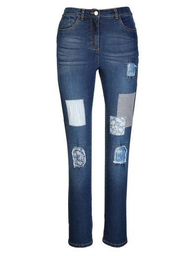 MIAMODA Jeans in angesagter Patch-Optik