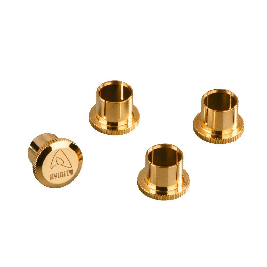 Avinity Cinch-Schutzkappen, vergoldet, 4er-Set