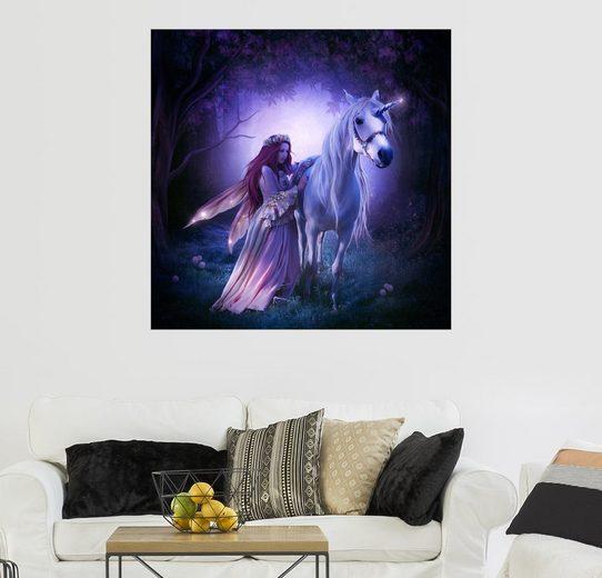 Posterlounge Wandbild - Elena Dudina »Unicorn«