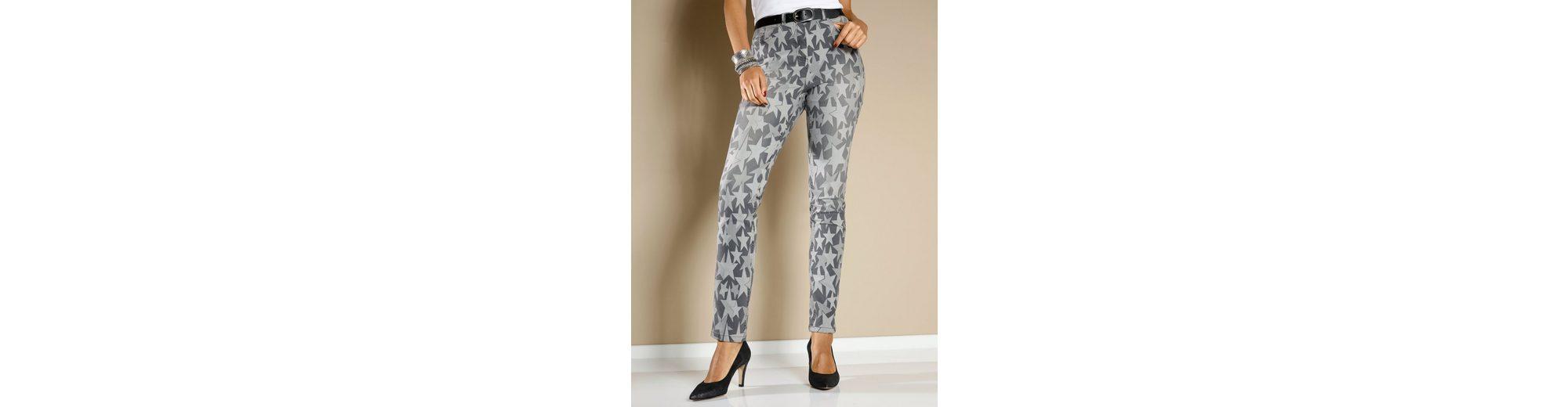 MIAMODA Jeans mit Sternendruck-Muster Rabatt Sneakernews Verkauf Footaction Spielraum Top-Qualität Komfortabel Günstig Online Zum Verkauf Rabatt Verkauf RBJ61RnVm
