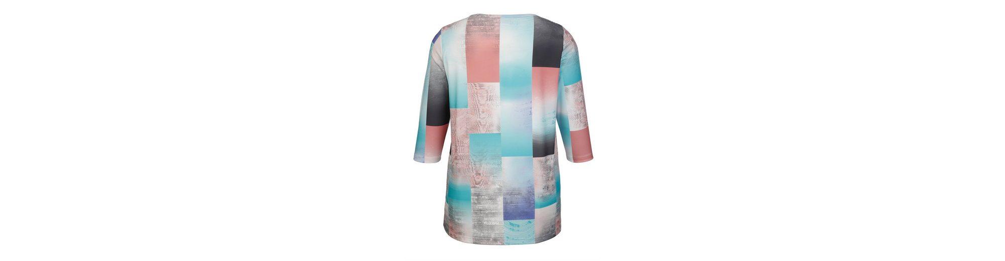 Verkauf Billig Auslass 100% Garantiert MIAMODA Shirt mit Druckmuster in zarten Pastelltönen rdrcF
