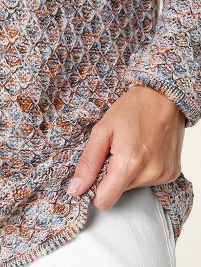MIAMODA Pullover aus effektvollem Melangegarn