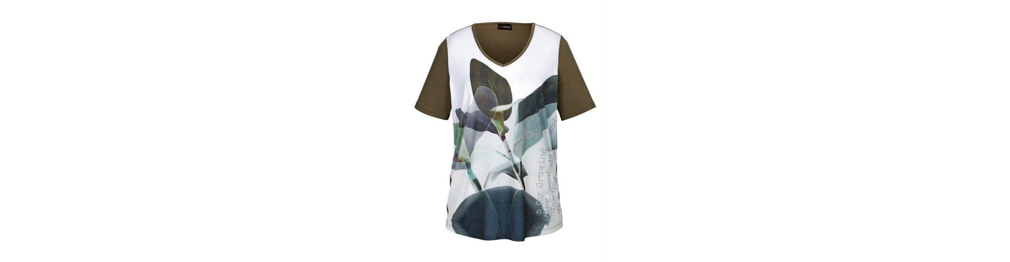 In Deutschland Günstig Online MIAMODA Shirt mit Blättermotiv-Druck Countdown-Paket LUXQh2TDr