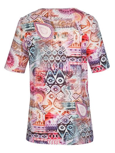 MIAMODA Shirt mit farbenfrohem Druckmuster