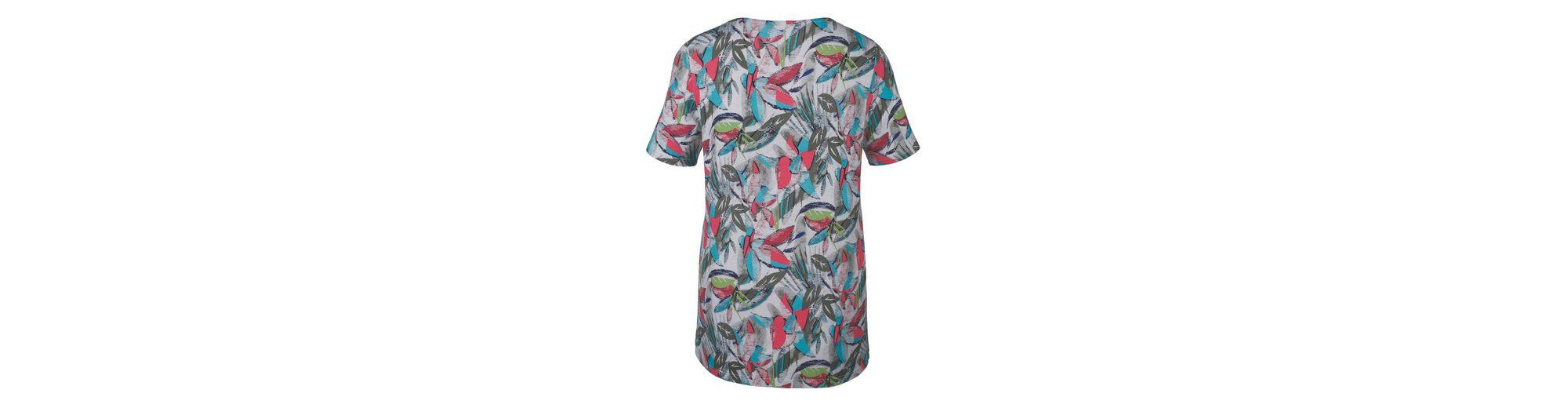 MIAMODA Shirt mit buntem Blätterdruck-Muster Rabatt Veröffentlichungstermine Sonnenschein 8sJXywa4