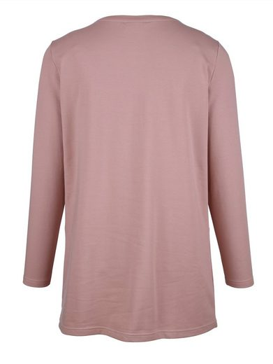 MIAMODA Shirtjacke mit Spitze vorne