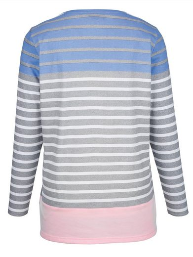 Miamoda Shirt With Trendy Block Stripes