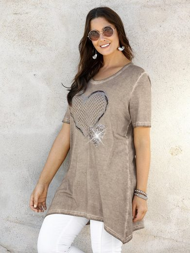 Miamoda Zipfel Shirt With Heart-motives