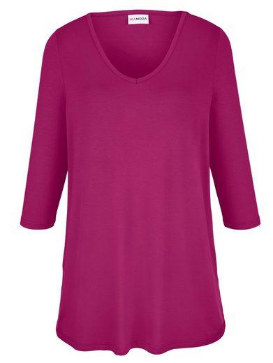 MIAMODA Longshirt aus Viskose-Stretch Material