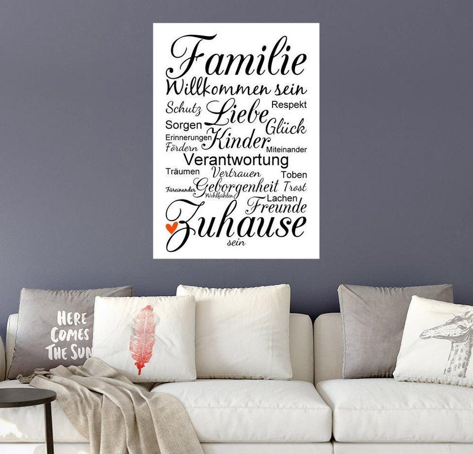 Posterlounge wandbild zeit raum kunstdrucke familie online kaufen otto - Wandbild familie ...