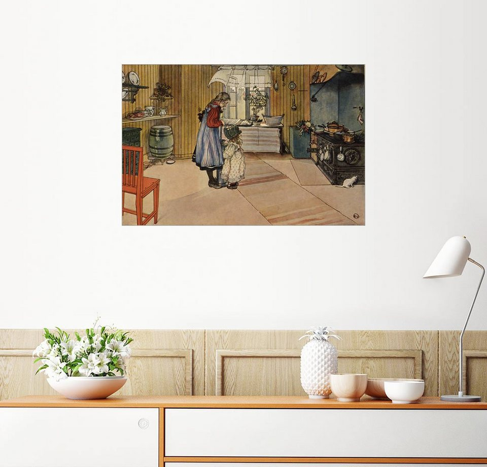 posterlounge wandbild carl larsson in der k che online kaufen otto. Black Bedroom Furniture Sets. Home Design Ideas