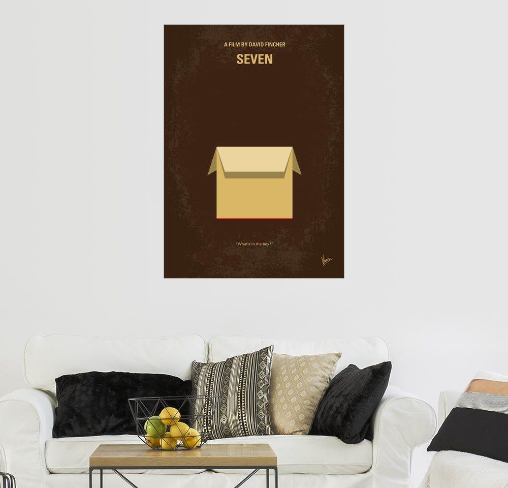 Posterlounge Wandbild - chungkong »No233 My Seven minimal movie poster« | Dekoration > Bilder und Rahmen > Poster | Holz | Posterlounge
