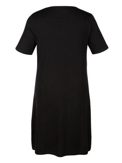 MIAMODA Jerseykleid mit effektvoller Raffung am Ausschnitt