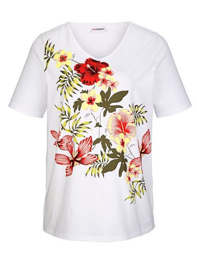 MIAMODA Shirt mit Blumenmotiven vorne