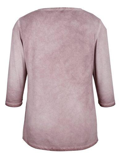 MIAMODA Shirt mit schönem V-Ausschnitt