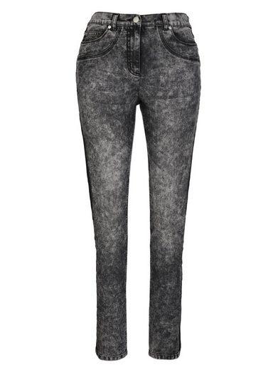 MIAMODA Jeans seitlich mit einfarbigem Streifen