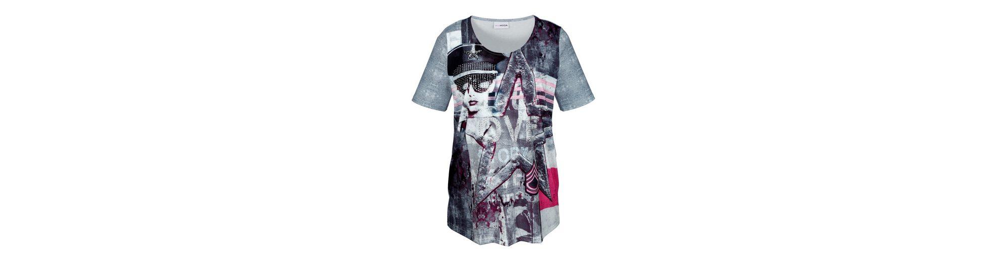 Verkauf Günstigen Preisen Professionelle Günstig Online MIAMODA Shirt mit trendigem Druckmuster Erscheinungsdaten Günstig Online RVeAkN4