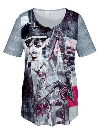 Miamoda Shirt With Trendy Print Pattern