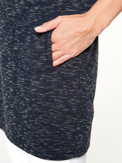 MIAMODA Shirtkleid aus meliertem Material